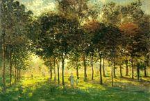 Claude Monet / Claude Monet, né le 14 novembre 1840 à Paris et mort le 5 décembre 1926 (à 86 ans) à Giverny, est un peintre français et l'un des fondateurs de l'impressionnisme. (wikipedia)