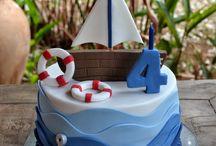 bolo decorativo navio