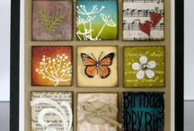 Inchies and Art Squares / Inchies and art squares can be used for stamping, mixed media, cards and more.