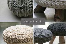 Crochet stool / by Jannie van Huizen