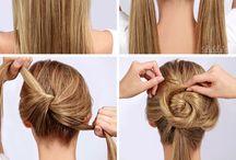 Bun hair tutorials