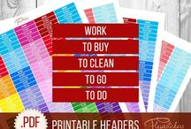 """Printable planner stickers """"Fleur Stickers"""" / """"Fleur Stickers"""" Printable planner stickers!   I hope you will find something that you like and that will be functional for you. Here you will find digital downloads functional stickers, themed sets, weekly design kits, some monthly planning kits and ect. for Erin Condren and other planner."""