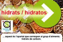 HIDRATS / HIDRATOS / Este grupo es el de los alimentos que contienen hidratos de cabono.