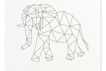 geometric line art