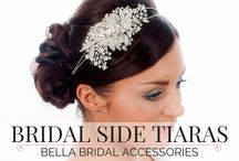 Bridal Side Tiaras / A collection of beautiful Swarovski crystal, diamante, pearl, and flower side tiaras.  Perfect for any style or wedding hairstyle and will make the perfect wedding hair accessory.