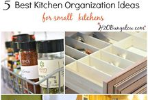 Organized Kitchen / Creative solutions for maximizing the space you have in the kitchen. Be able to find everything when you need it! Plus space-saving solutions for a super-storing pantry.  And any other cool stuff I come up with!
