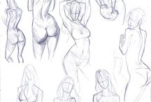 pose references + sketches