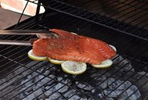 Grilled fish on The lemon bed