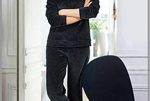 Pyjama femme grande taille / Gamme de pyjamas pour femme ronde, coton romantique, satin coquin et velours chaude, de la taille 44 à 62 pour des moments de détente confortables.