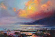 Inspiration - landskab / Inspiration til malerier.