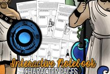 Character Pages Novel Studies / Interactive Notebooking Characterization
