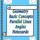 Notecards / Sets of note/flash cards for teachers to print out and use with students to reinforce and review vocabulary and theorems.