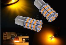 55 SMD 3528 2835 LED For Auto Car Accessories Sidelight Backup Rear Turn Light Lamp Orange