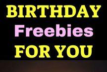 Free Stuff / Freebies, birthday freebies, and other 100% free stuff