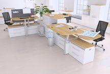 """Arbeitsplatzlandschaft / Mit dem Programm """"Solus Multilevel"""" können Sie individuelle Arbeitsplatzlandschaften konfigurieren, die garantiert jedem Anspruch gerecht werden."""