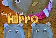 Kiddie Paper Plate Crafts ♥