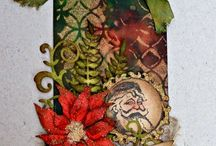November 2014 MMMC #6 Winners / Winners of the Mixed Media Monthly Challenge November 2014 #6 Challenge - Stamps