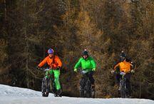 Avoriaz snow bike / Mountain bike on the snow during winter. Activities by Evolution 2 Avoriaz