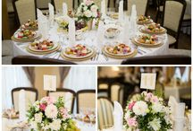 white and pink / wedding flowers