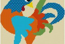cross stitch / etamin