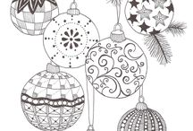 christmas zentangle