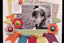 Great for scraps / Layouts great for using scraps or 6 by 6 paper pads.