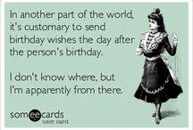 verjaardag te laat