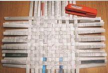 Reciclagem com jornal