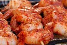 pittige garnalen voor de barbecue