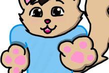 Kitties / My random cat drawings of celebrities and Picsof meh cats