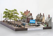 """Diorama """"Le Virage de Pontlieue"""" 24 h Le Mans 1923 / hobbyclassic realizó este diorama el 2015 con motivo de la presentación del modelo en slot Chenard & Walcker 3.0 Sport. Para más información www.hobbyclassic.net"""