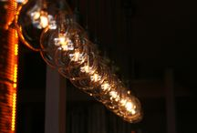 CablePower lamps - cable and bulb / Beautiful lamps made of colorful cables and bulbs.