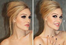 Makeup and hairdo