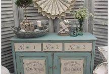 muebles pintados a la tiza