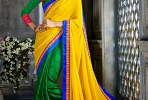 Colourful sarees / This board contains sarees that are exceptionally colorful, multicoloured & with bright colors