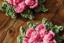 flores y detalles a crochet