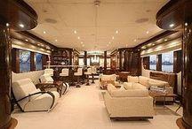 Modern Yacht Interior Design with Wood Veneer