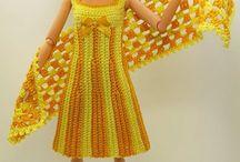 вязаные одежда для кукол игрушки