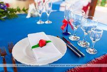 Сервировка свадебного стола / Один из важнейших элементов красивого свадебного стола -  правильная сервировка