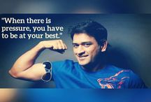 Dhoni quotes / Discover the life lessons quotes and  words of wisdom by Mahendra Singh Dhoni (a.k.a MS Dhoni)