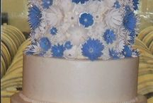 Wedding Cakes (flowers) / Various cakes with flower or petal designs done in fondant or buttercream