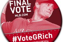 #VoteGRich / #VoteGRich now to help get him to the #ASG: http://atmlb.com/1ojUph2. You can also text A4 to 89269 to vote.  Voting is unlimited and ends at 1pm PT on Thursday, July 10.