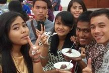 with my friends