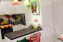 Наши работы (декоративный искусственный камень) / Декоративный кирпич в интерьере. Декоративный сланец в интерьере. Декоративный камень в гостиной, спальне, кухне, коридоре.
