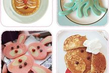 children decorated pamcakes