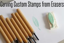 Stamps 000 Instructions / Blogs to check out re instruction for creating my own hand-carved stamps. / by Aileen Donnelly