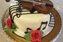 music and birthday cake