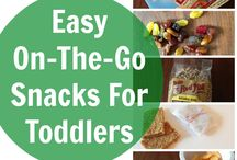 On the go snacks for toddlers / by Adria Deegan
