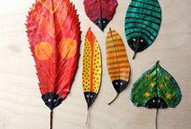 ζωγραφικη σε φύλλα δέντρων