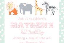 Baby invitations